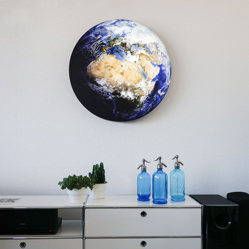 LED-Dekolampe Erde / blauer Planet, gross, Ø78cm – Mood hell