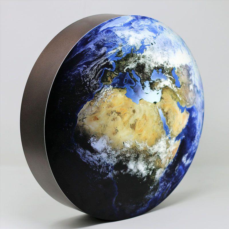 LED-Dekolampe Erde / blauer Planet, gross, Ø78cm – seitlich