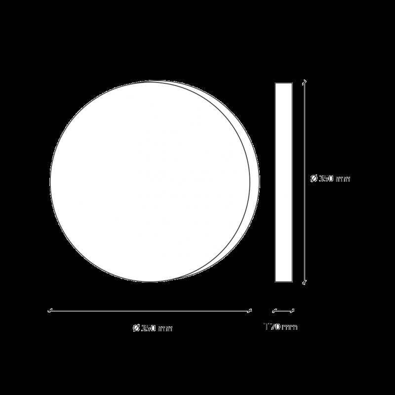 LED-Dekolampe Erde / blauer Planet, klein, Ø35cm – Vermassung