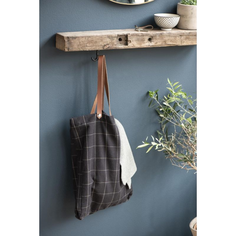 Tasche schwarzes Karomuster