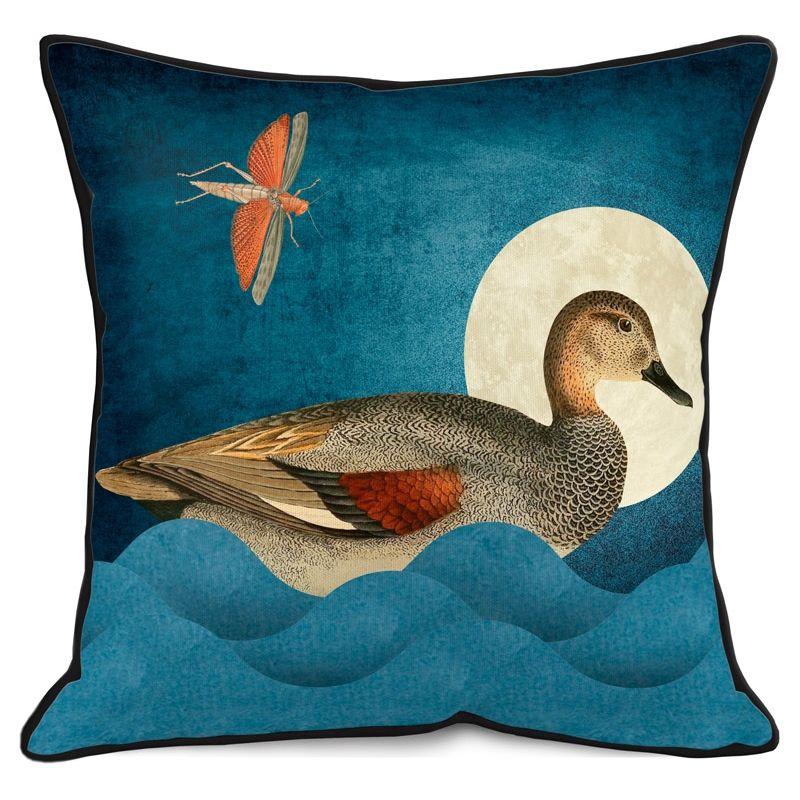 Velours-Kissen 'Duck', 50x50cm