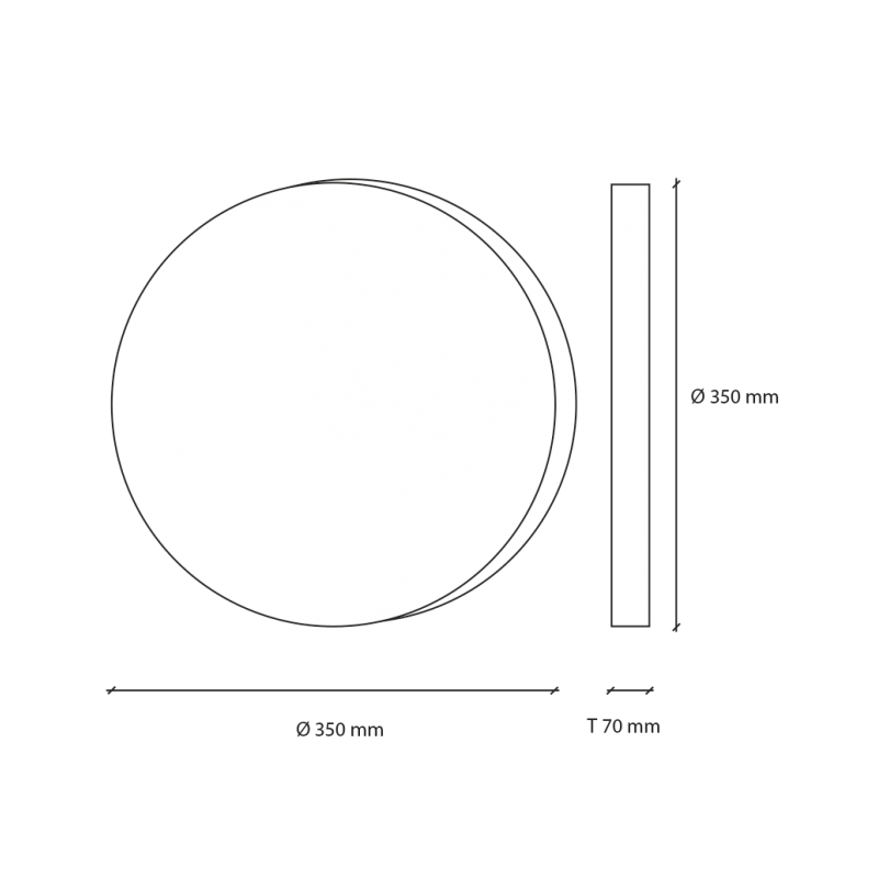 LED-Dekolampe Erde / blauer Planet, gross, Ø78cm – Vermassung