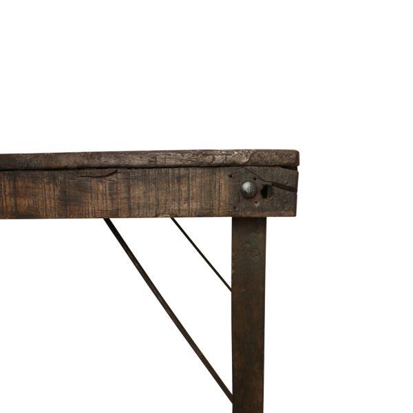 Ausklappbarer Esstisch aus Altholz, Länge ca. 155cm, Tiefe ca. 90cm
