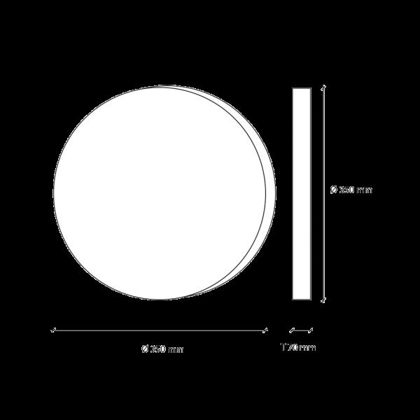 LED-Mondlampe, klein, Ø35cm